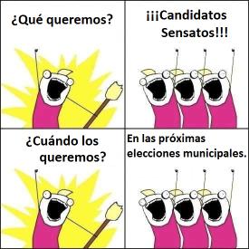 meme candidatos sensatos